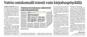 Mikko Akselin - Vattin osinkomalli toimii vain kirjoituspöydällä